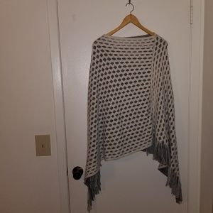 Max edition s/m poncho white and gray